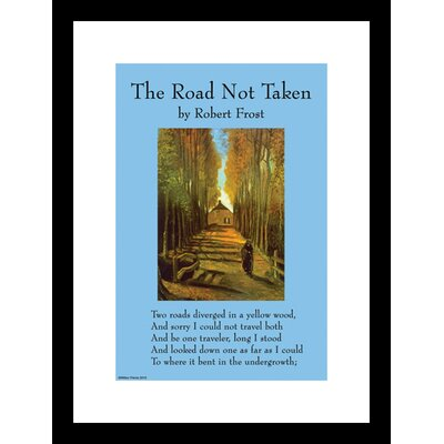 The Road Not Taken Framed Graphic Art