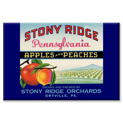 Stony Ridge Pennsylvania Apples and Peaches Vintage Advertisement on Canvas
