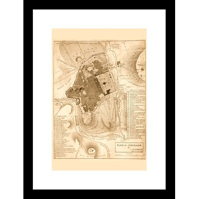 Solomon's Temple Jerusalem Framed Graphic Art