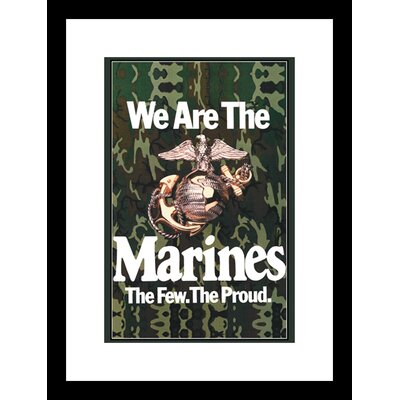 We Are The Marines Framed Graphic Art