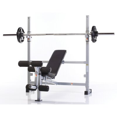 Wide Combo Adjustable Olympic Bench with Leg Developer
