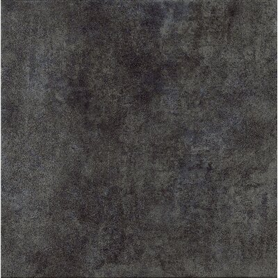 "Marca Corona Reactions 12"" x 12"" Glazed Porcelain Field Tile in Black"