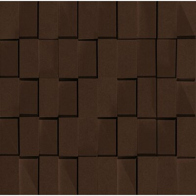 "Marca Corona Skyline 12"" x 12"" Glazed Porcelain Rectified Brick in Moka"