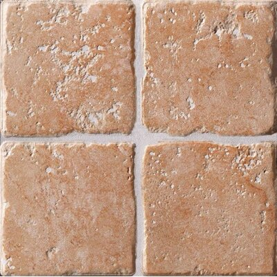 "Marca Corona Italian Country 4"" x 4"" Bullnose Outcorner Tile Trim in Rosa"