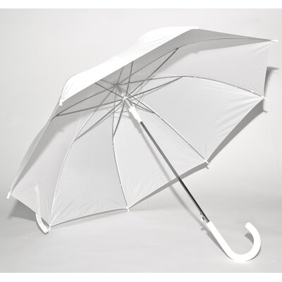 Elite Rain Solid White Auto-Open Umbrella