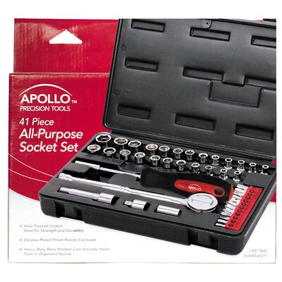 Apollo Tools 41 Piece all Purpose Socket Set