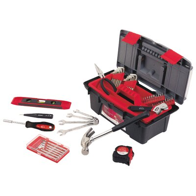 Apollo Tools 53 Piece Household Tool Kit with Tool Box