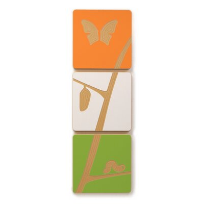 Sprout Caterpillar to Butterfly 3 Tile Art Set