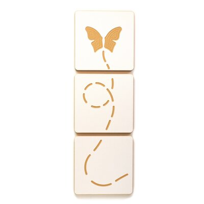 Butterfly Flying 3 Tile Graphic Art Set