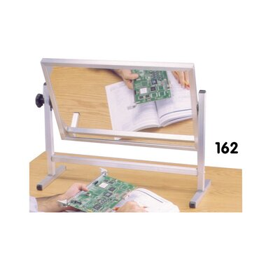 Testrite Demonstrator Instructional Mirror - Tabletop/Personal Size 1.33' x 2' Glass Board