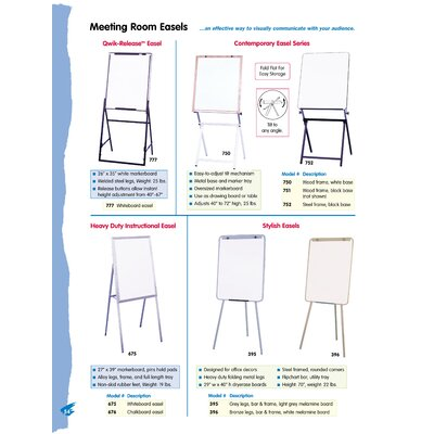 Testrite Jumbo Swivel Easel - Small and Medium Size White Board