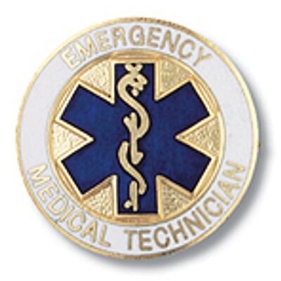 Prestige Medical Emergency Medical Technician Star of Life  Emblem Pin