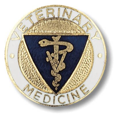 Prestige Medical Veterinary Medicine Emblem Pin