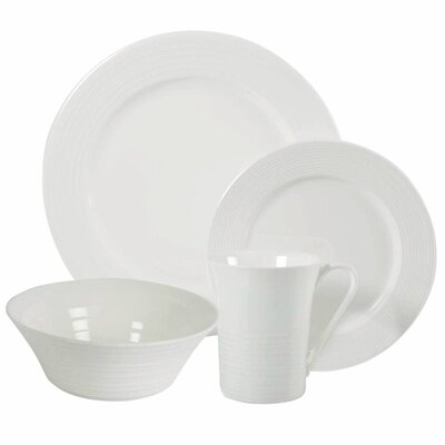 White Basics Cirque 16 Piece Dinnerware Set