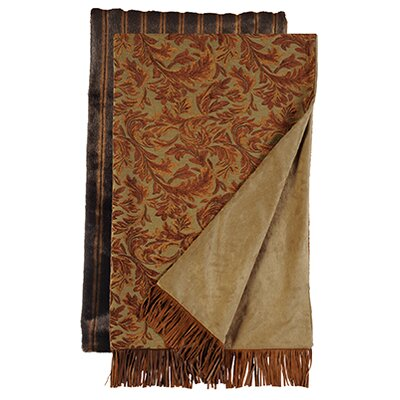 Nutmeg Leaf Fancy Mink Throw