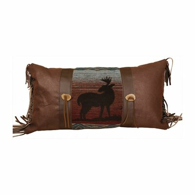 Deer Meadow Faux Leather Pillow