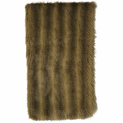 Wooded River Bandera Raccoon Faux Fur Throw