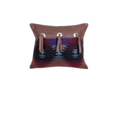 Painted Desert Azteca Cowhide Leather Pillow