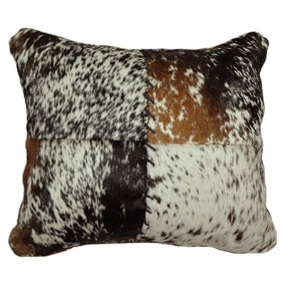<strong>Wooded River</strong> Accessory Pillows Speckled Hair on Hide with Stitched Front Pillow