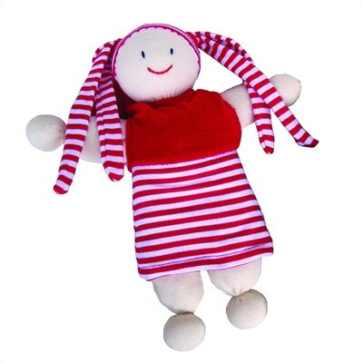 Challenge & Fun Keptin-Jr Organic Girly Caucasian Doll in Red