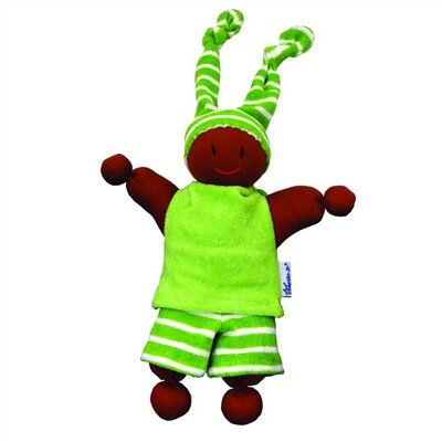 Challenge & Fun Keptin-Jr Organic Boyo African American Doll in Lime Green