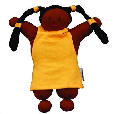 Keptin-Jr Organic Girly African American Doll in Yellow