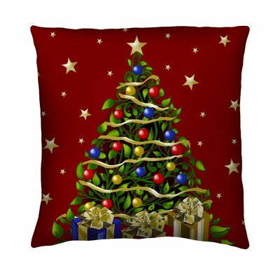 Holiday Elegance Elegant Tree Silk Pillow