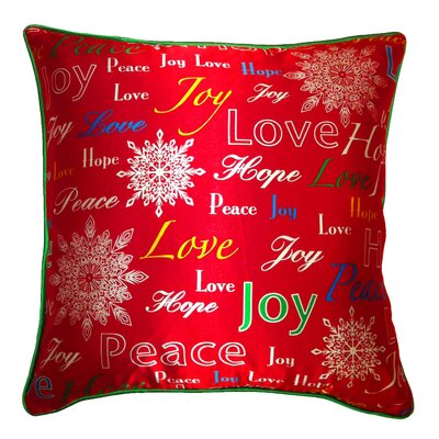 Holiday Elegance Joy Hope Love Silk Pillow