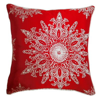 Holiday Elegance Snowflake II Silk Pillow