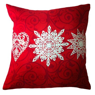 Holiday Elegance Star Heart Snowflake Silk Pillow