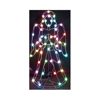GE 50-Light LED Color Changing Angel with 8 Multi Functions