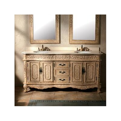 "James Martin Furniture Hana 72"" Double Bathroom Vanity Set"