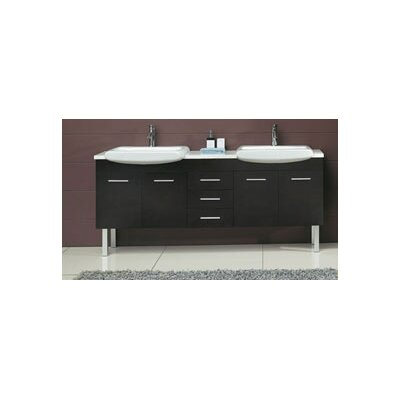 "James Martin Furniture Kasha 71"" Double Bathroom Vanity Set"