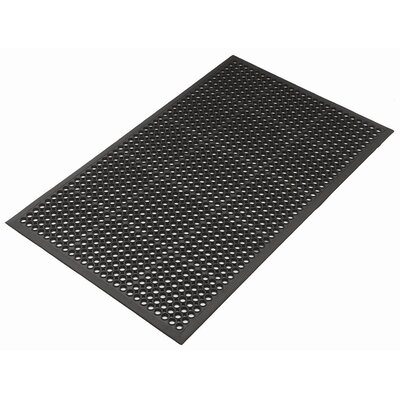 Mats Inc. Kushion Safe Light Molded Rubber 3' x 5' Mat in Black