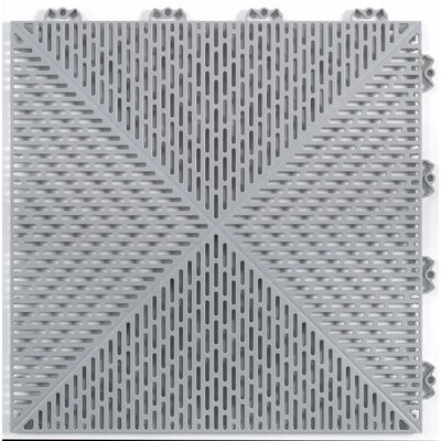 "Mats Inc. Quick Click Polypropylene 14.88"" x 14.88"" Interlocking Deck Tiles in Gray"