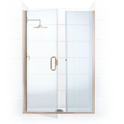 Coastal Shower Doors Illusion Frameless Shower Door and Inline Pane