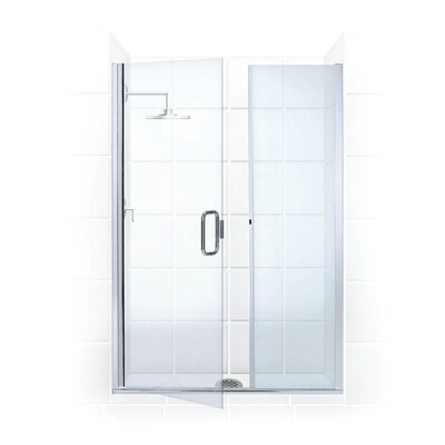 Coastal Shower Doors Illusion Frameless Shower Door and Inline Pane