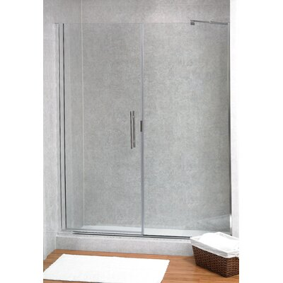 Coastal Industries Paragon Illusion Series Ladder Pull Frameless Shower Door and Inline Panel