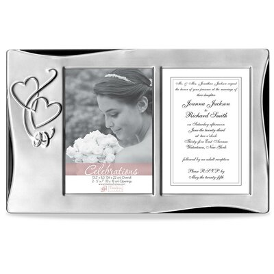 Silver Heart Tabletop Wedding Collage Picture Frame