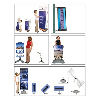 Orbus Inc. Whirlwind Double-Sided Outdoor Signboard