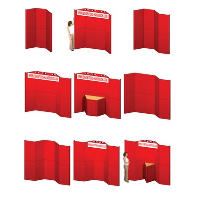 Exhibitor's Hand Book Hero H15 Full Height Exhibit Panel with Curved Edges and Backlit Header