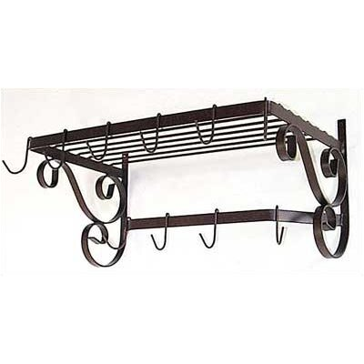 French Wall Mounted Bar Pot Rack