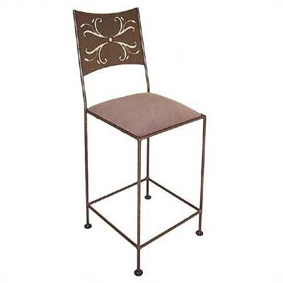 Grace Collection Wheat Counter Stool with Arms