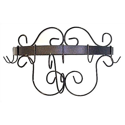 Grace Collection Half Round Wall Mounted Pot Rack