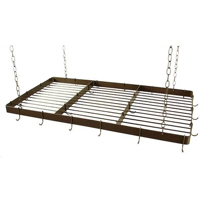 Grace Collection Butcher Hanging Pot Rack with Grid