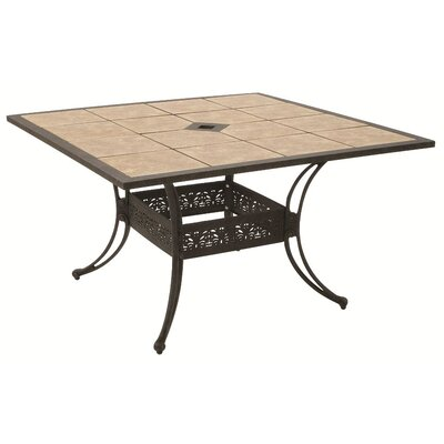 Drop In Tile Square Dining Table with Hole