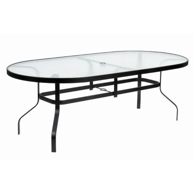 KD Oval Glass Dining Table with Hole