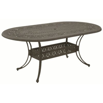 Paradise Oval Cast Dining Table with Hole