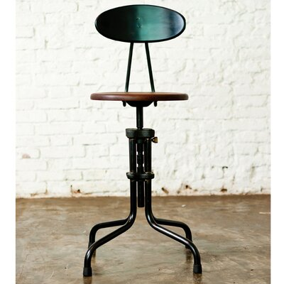 District Eight Design V19R Dining Stool with Backrest