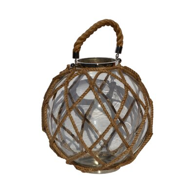 Rojo 16 Stainless Steel and Glass Globe Lantern